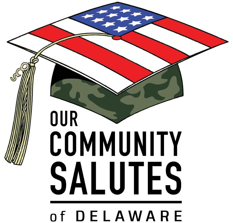 Our Community Salutes - Delaware logo