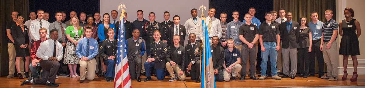 Enlistees honored at the 2014 Our Community Salutes Ceremony